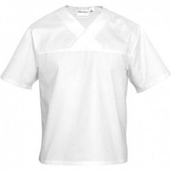 Bluza w serek biała krótki...